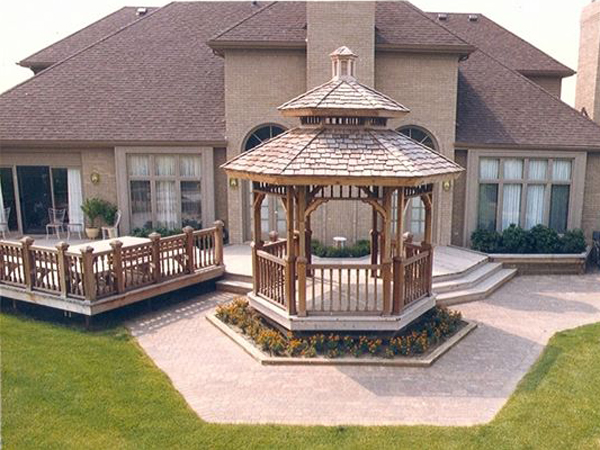 Alexander landscape construction decks gazebos 586 for Decks and gazebos
