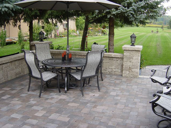 We Start Designing With U201cHardscapingu201d, Such As Brick Patios, Walkways,  Driveways, Fountains, Water Features, Kitchen Areas, Fire Pits And  Fireplaces.